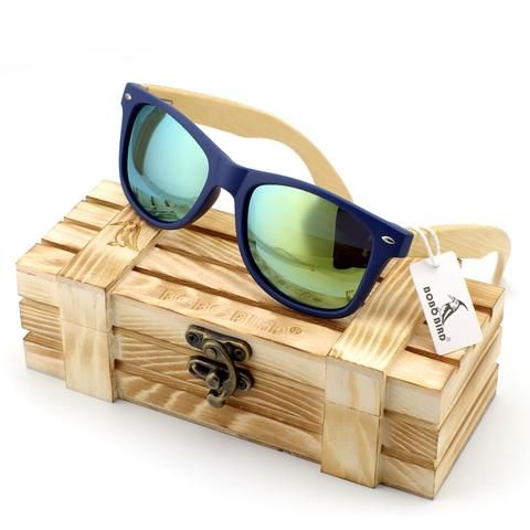 Wooden Sunglasses Vintage Style In Wood Gift Box Men's Accessories Awesome Summer Natural Wooden Sunglasses Shops Fashion Styles  Website
