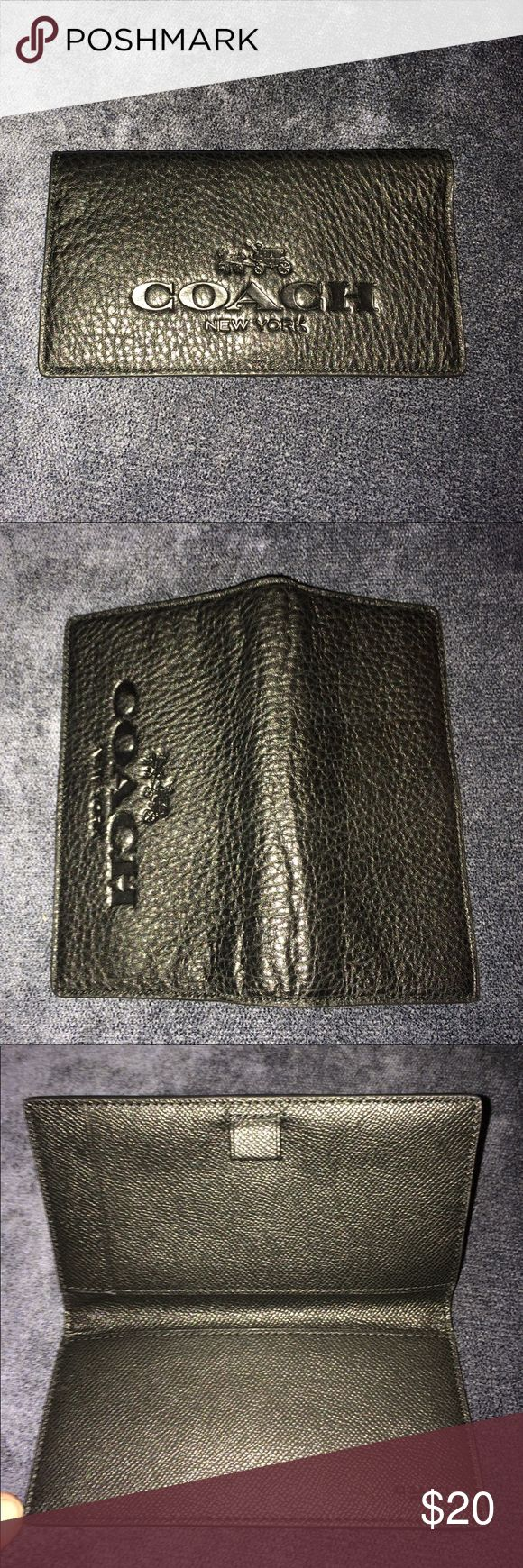 Coach Black Pebbled Leather Checkbook Cover Coach Black Pebbled Leather Checkbook Cover Wallet. Great Condition. Lots Of Wear Left. Questions Welcome Thanks For Looking. Coach Bags Wallets