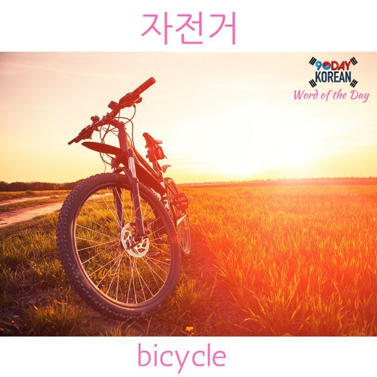 Today S Korean Word Of The Day Is Bicycle If You Can T Read