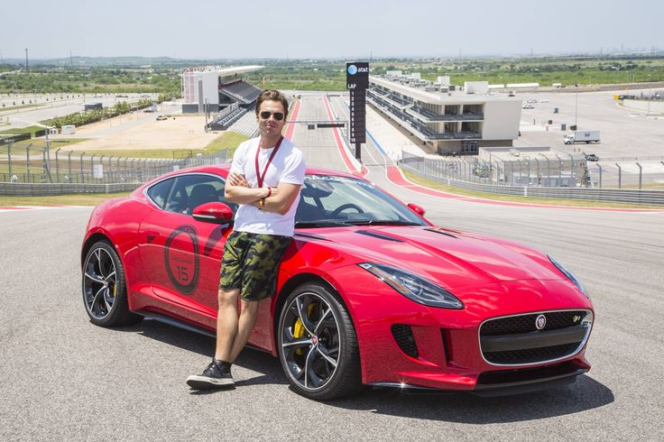Sebastian Stan test drives 2014's Jaguar F-Type