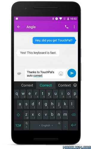 TouchPal Emoji Keyboard v6.2.2.4 [Premium]Requirements: 4.0+Overview: TouchPal Keyboard V5, Feel the speed! The Winner of Global Mobile Innovation Award! TouchPal Emoji Keyboard is a free Emoji Keyboard for Android phone that helps you to fast input...