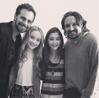 Rowan tweeted this one of Rider Strong, Sabrina Carpenter, herself (Rowan Blanchard), and Will Friedle.