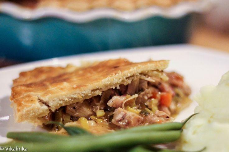 Turkey And Leek Pie (Thanksgiving leftovers)