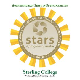 Sterling College Achieves Highest STARS Gold Rating in Vermont for Sustainability Performance   Announcements   Vermont Farm to Plate