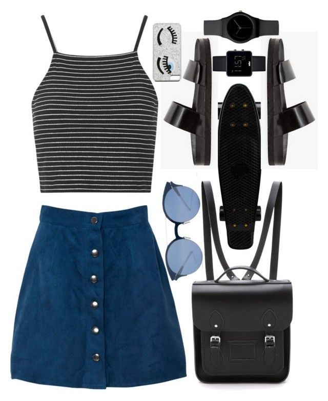 """""""I'm more of a """"two watch"""" kinda girl"""" by trendsetter-98 ❤ liked on Polyvore featuring The Cambridge Satchel Company, Sol Sana, Topshop, Mykita, Chiara Ferragni and Braun"""