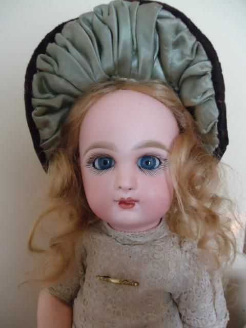 Wonderful and Rare Tete Jumeau with Keywind Sleep Eyes from dollmary on Ruby Lane