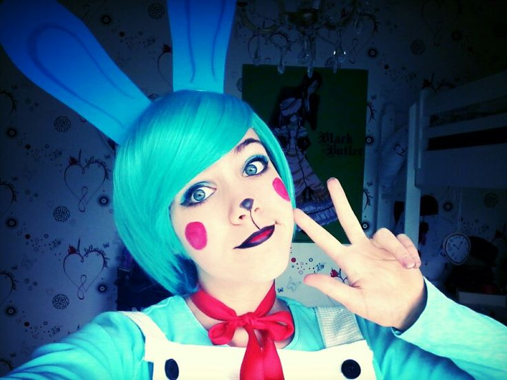 Toy bonnie cosplay~five nights at freddy's #fnaf #fivenightsatfreddys #cosplay #toybonnie