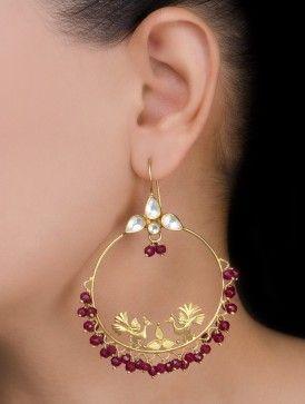 Peacock Silver Earrings