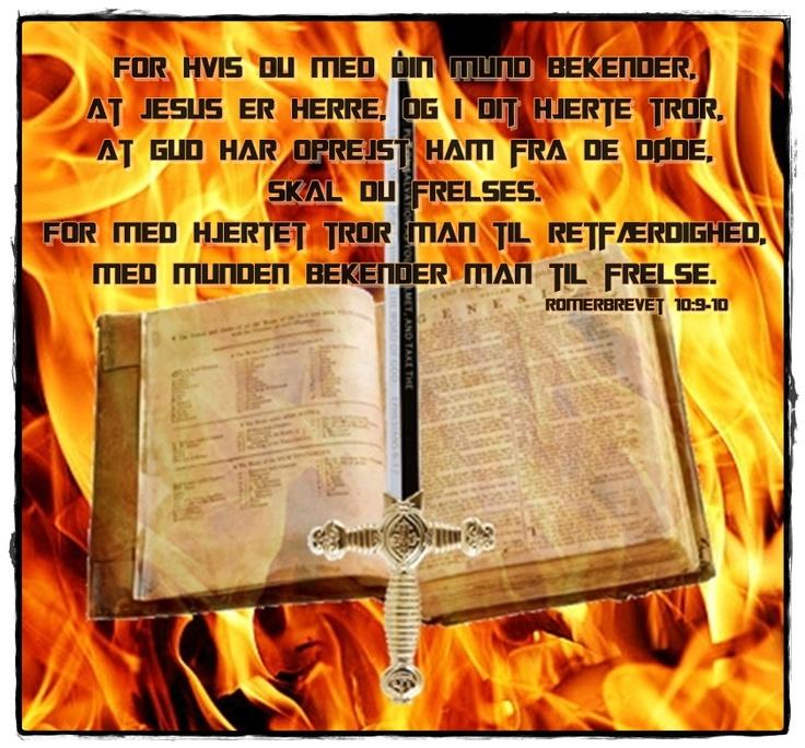 Romerbrevet 10:9-10 (Dansk)