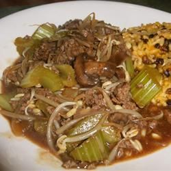 Chop Suey Allrecipes.com ..  I remember this when my mom use to make it she used hamburger to keep it cheap and it tasted really good. I think it would freeze great.  you could even have rice in the freezer ready to go.