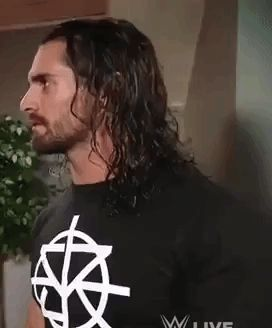 Gif made from Seth Rollins confronts Mick Foley video. #sethrollins #colbylopez #wwe #raw