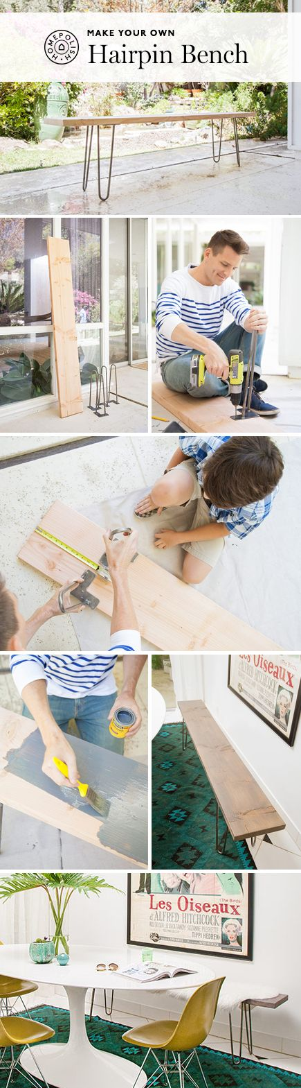 How to Make a Hairpin Bench With Your Friends! #DIY #crafts