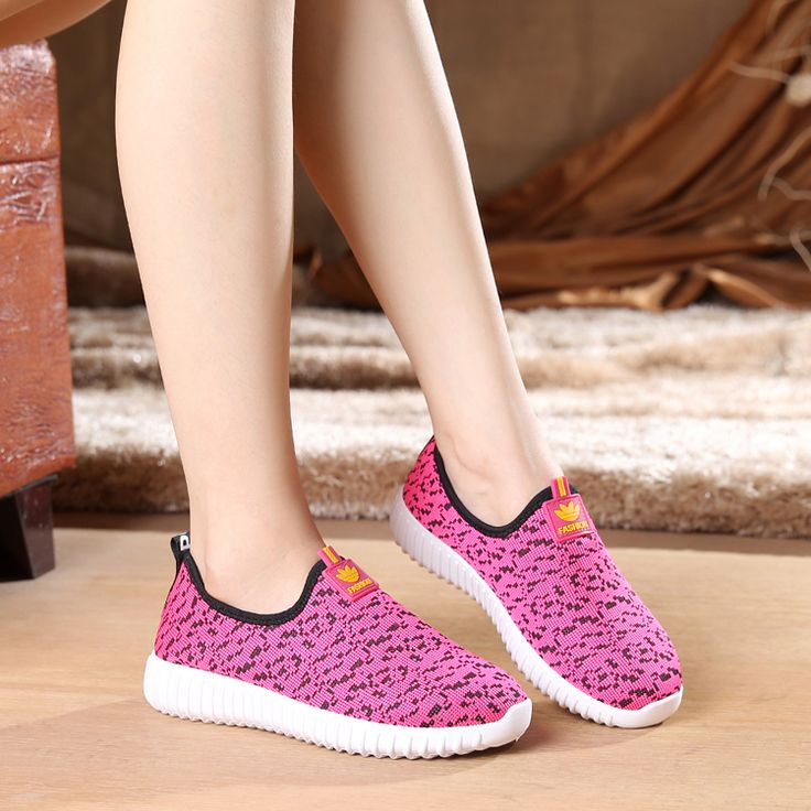 Women cool mesh breathable shoes female sport and outdoor soft bottom shoes lady casual slip on  shoes zapatos de mujer