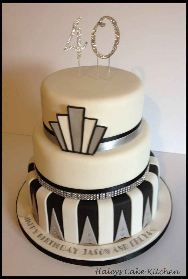 Art Deco Cake Decorations : 19 best images about 40th Birthday Cake Ideas on Pinterest ...