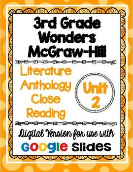 Are you ready to go paperless in your classroom? I have converted one of my best selling products to a DIGITAL version that can be used with Google Classroom! This resource is based on the 3rd grade Wonders McGraw-Hill reading series. This is a weekly activity that I like to use when teaching the story in the Literature Anthology book.