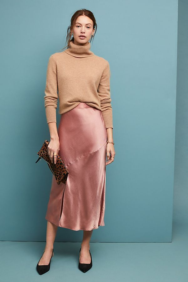 Bias Satin Skirt Shop the Bias Satin Skirt at Anth…
