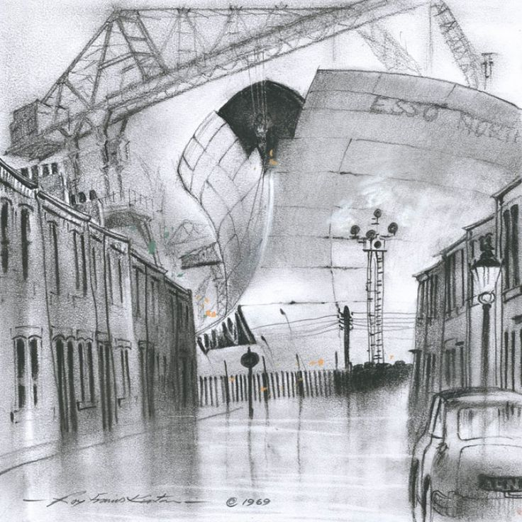 Esso Northumbria signed open edition print by Roy Francis Kirton