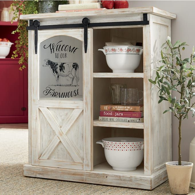 30+ Farmhouse barn door cabinet model