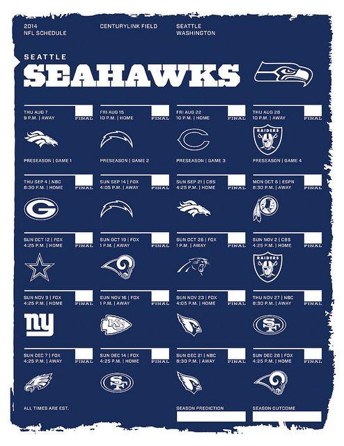 Seattle Seahawks 2014 NFL Schedule