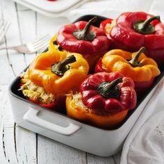 Γεμιστές πιπεριές με μανιτάρια και ρυζι