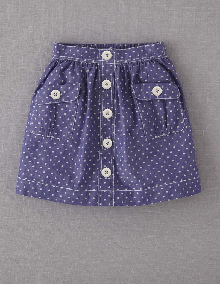 Spotty Chambray Skirt
