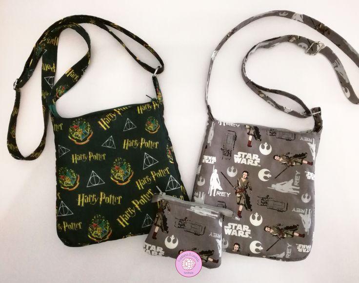 #bolsos #monedero #regalos #handmade #hechoamano #navidades #comuniones #niños #infantiles #telas #fabrics #StarWars #HarryPotter #original #diferente #unico #exclusivo #FrambuesayLavanda