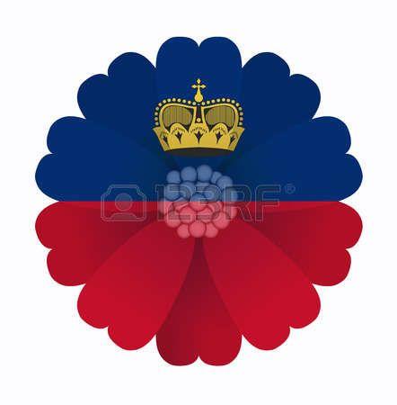 illustration of flower Flag Liechtenstein photo