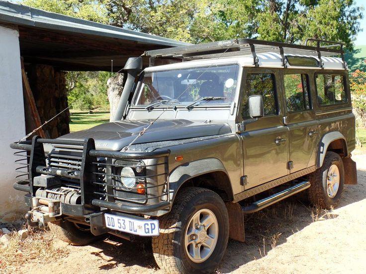 "Land Rover Defender 110 Td4 Sw Adventure. The company vehicle. Finally got to meet ""Air Force Two"" a modified Land Rover used for Kruger and Botswana expeditions."