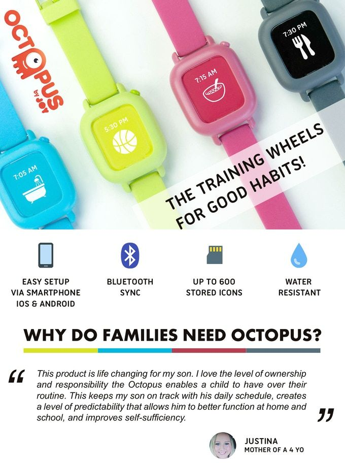 Octopus by Joy, the training wheels for good habits! by Joy — Kickstarter