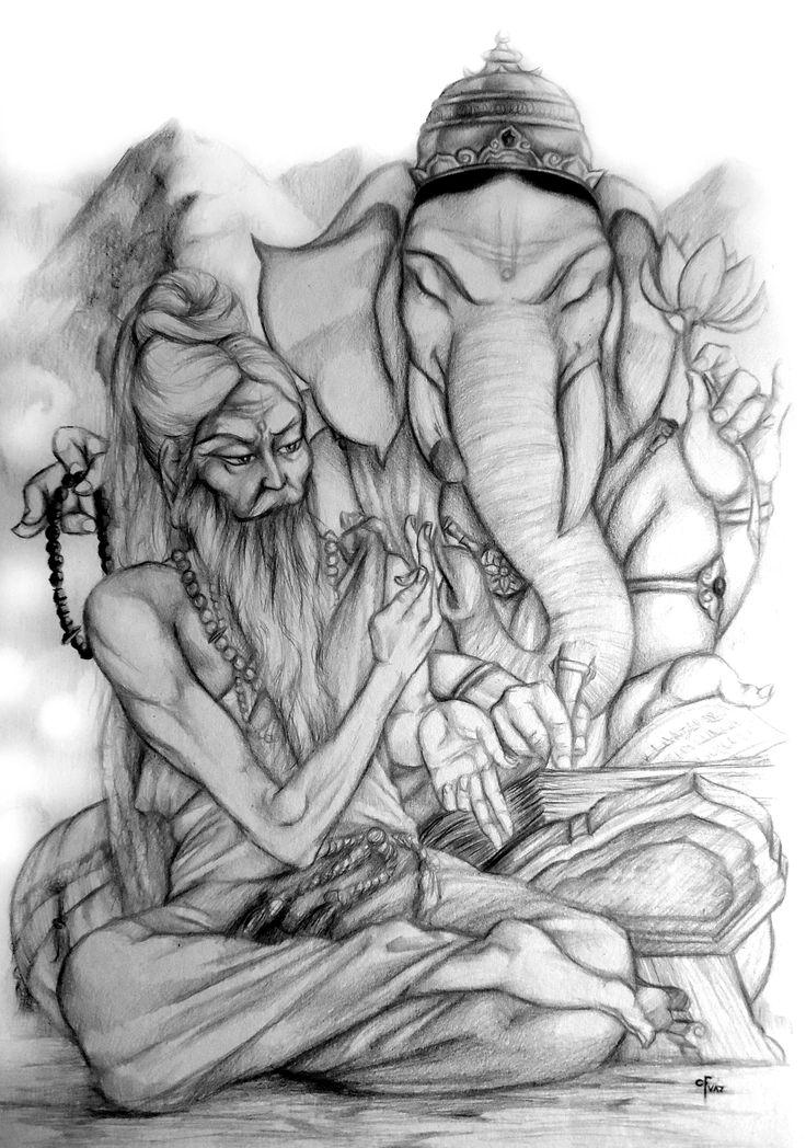 Vyasa y Ganesha