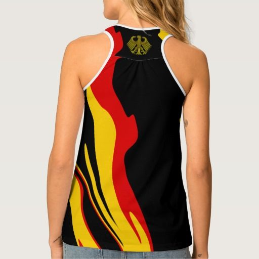 German Flag colors abstract art with Eagle