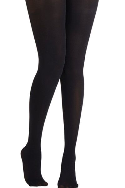 Lucky Duck Opaque Black Tights