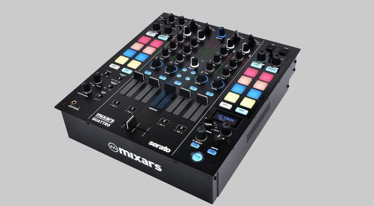 Aus Duo wird Quattro. Mixars neues Serato Mischpult setzt auf Tugenden des Mixars Duo, aber mit vier Kanälen und Dual USB-Port.