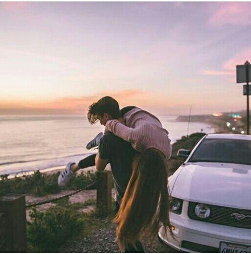 Imagen de love, couple, and car