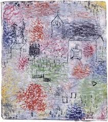 Paul Klee | Small Landscape with the village church, 1925