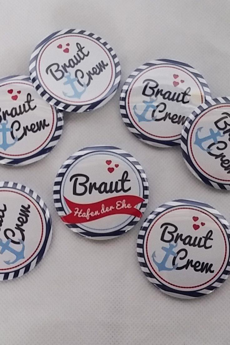 """Button """"Braut"""" – Hafen der Ehe"""