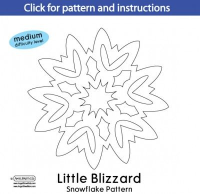 paper snowflake patterns instructions