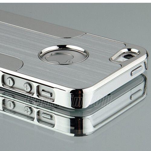Silver Luxury Brushed Aluminum Chrome Hard Case for iPhone 5  6th Stylus Film | eBay
