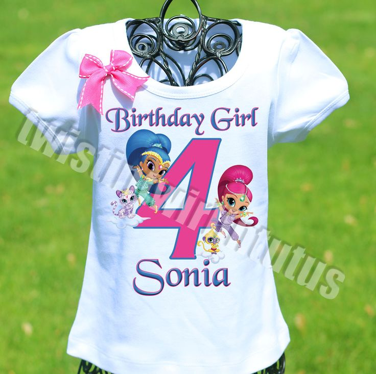 Shimmer and Shine Birthday Shirt | Shimmer and Shine Family Birthday Shirts | Shimmer and Shine Birthday shirt | Shimmer and Shine Birthday Ideas | Shimmer and Shine Birthday Party | Shimmer and Shine Birthday Shirts | Shimmer and Shine Family Birthday Shirts | Birthday Party Ideas for Girls | Twistin Twirlin Tutus #shimmerandshinebirthday