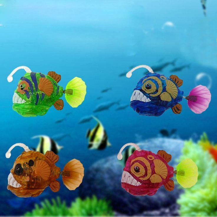 Home Electronic Fish Activated Battery Powered Pet Toy For Decoration Tank Fishi Fishing Tank Ideas Of Fishin Aquarium Ornaments Fish Lanterns Fishing Tank