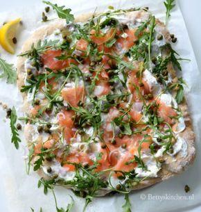 Spelt pizza met zalm en ricotta | Recept | Betty's Kitchen pizza recepten