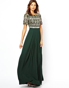 Virgos Lounge Erin Maxi Dress with Embellished Top | Modest Prom Dress