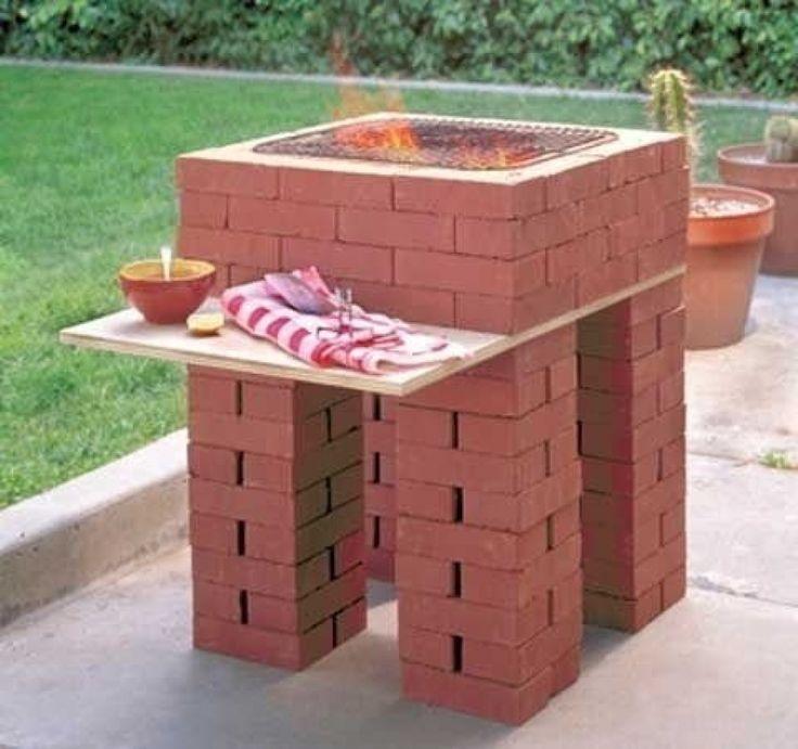 Grill made of bricks