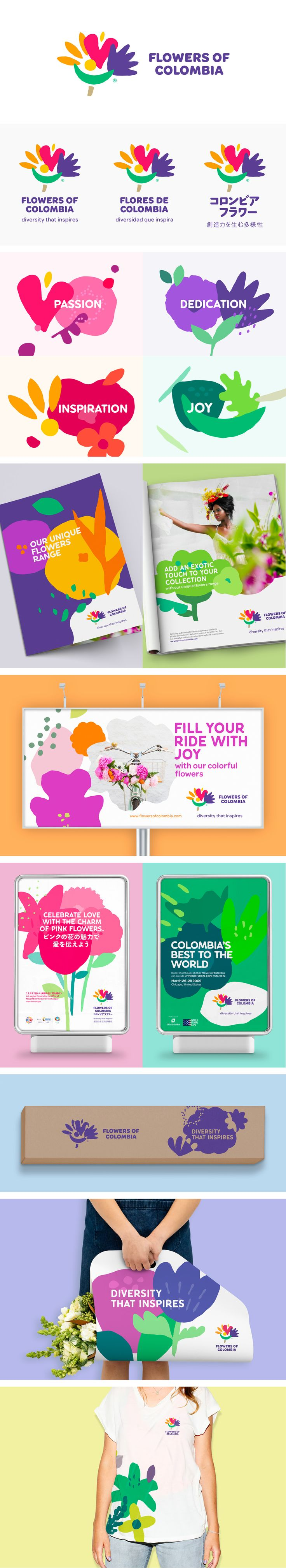 More corporate-designs are collected on: https://pinterest.com/rothenhaeusler/best-of-corporate-design/ · Agency: SmartBrands · Client: Flowers of Colombia #branding #identity #corporatedesign