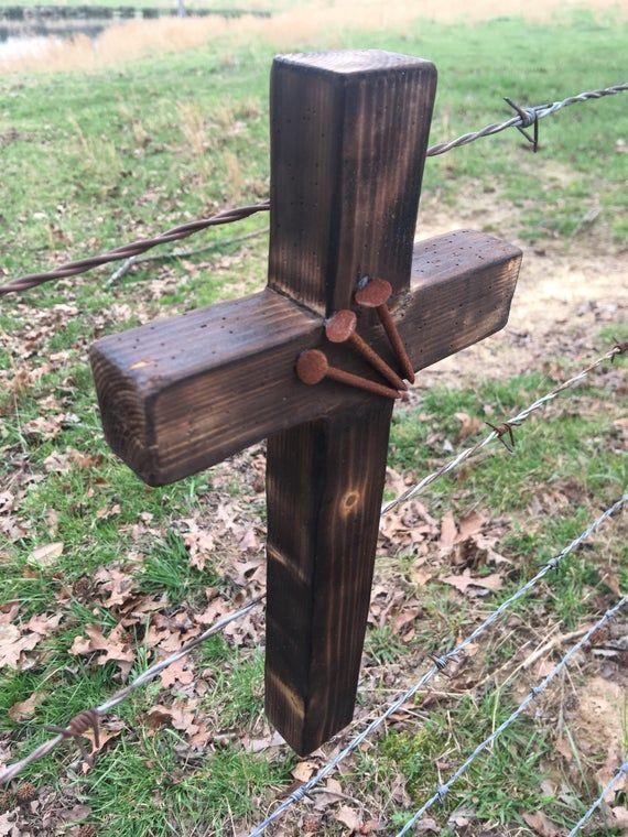 Handmade Rustic Wooden Wall Cross | Wooden crosses diy ...