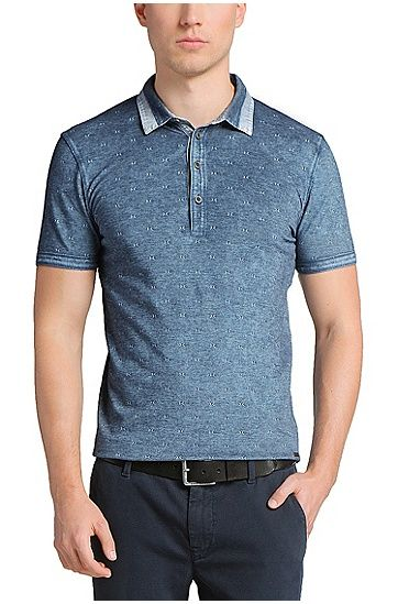 Polo shirt in patterned jacquard 'Petrino'