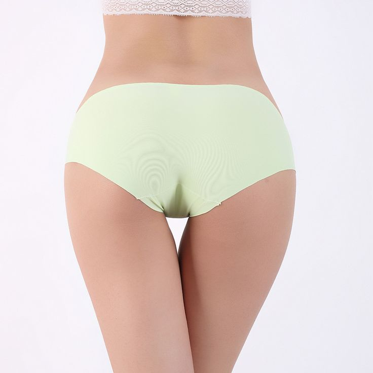 5PcsSet Sexy Pure Color Icy Silk No-Trace Chip Lady Slim Waist Briefs Sale