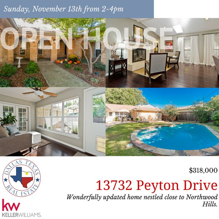 Serene location still allows access to major streets and highways making it convenient to all of #Dallas. Relax in the sun room with a view the pavestone patio and large backyard, or lounge on the backyard deck overlooking the swimming pool. #DallasRealEstate #OpenHouse #75240