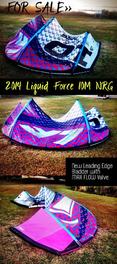 #kiteboarding kite for Sale! 2014 10m Liquid Force NRG Make a bid by clicking on the picture  #liquidforce #obx #outerbanks #kitesurfing #kitegirls