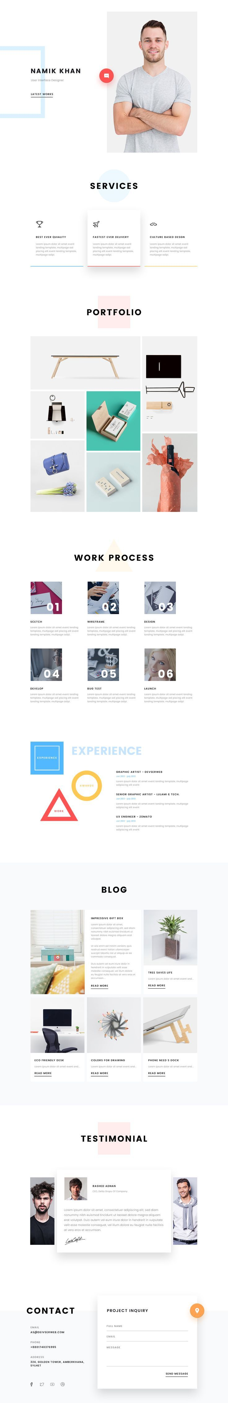 Personal CV/Resume by Ali Sayed - as seen on Dribbble